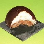 Gâteau chocolat, poires et marrons