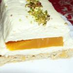 gâteau à la mangue et mousse au citron combava